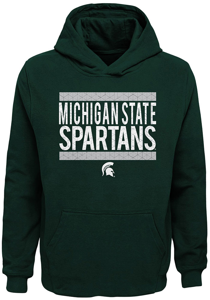 Michigan State Spartans Youth Evolve Hooded Sweatshirt - Green