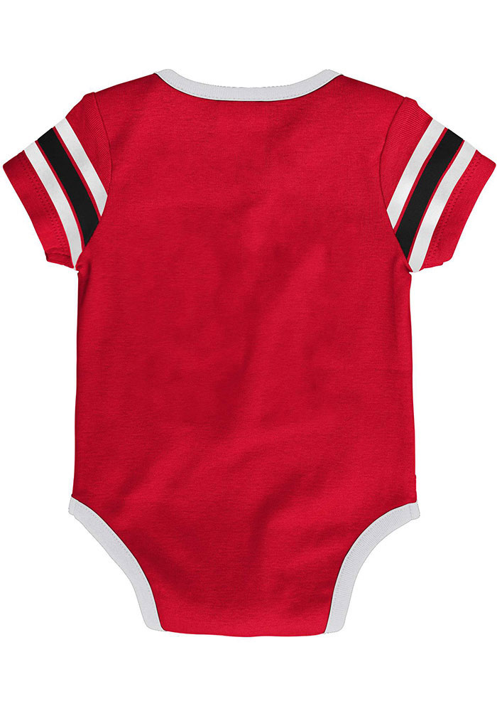 Detroit Red Wings Baby Red Hockey Pro Short Sleeve One Piece - Image 2
