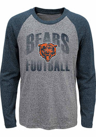 Chicago Bears Youth Grey Go For It Raglan T-Shirt