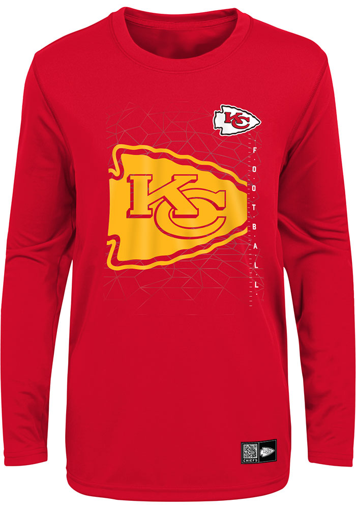 Kansas City Chiefs Youth Red Ignition Long Sleeve T-Shirt - Image 1