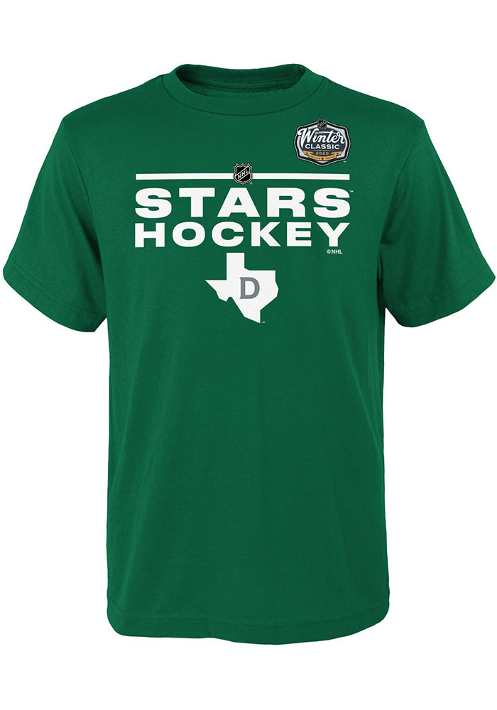 Dallas Stars Youth Kelly Green Winter Classic 2020 Locker Short Sleeve T-Shirt - Image 1