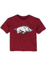 Arkansas Razorbacks Infant Primary Logo T-Shirt - Cardinal