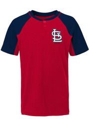 St Louis Cardinals Boys At the Plate Fashion Tee - Red