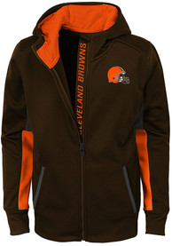 Cleveland Browns Youth Connected Full Zip Jacket - Brown