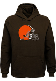 Cleveland Browns Youth Primary Logo Hooded Sweatshirt - Brown