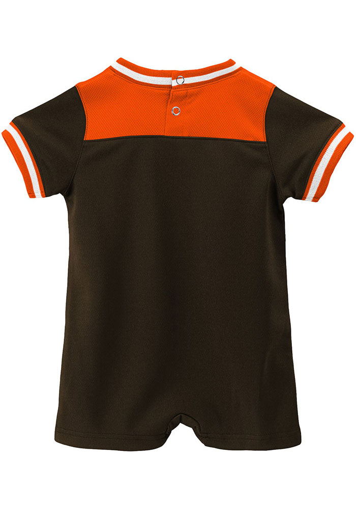Cleveland Browns Baby Brown Game Day Short Sleeve One Piece - Image 2