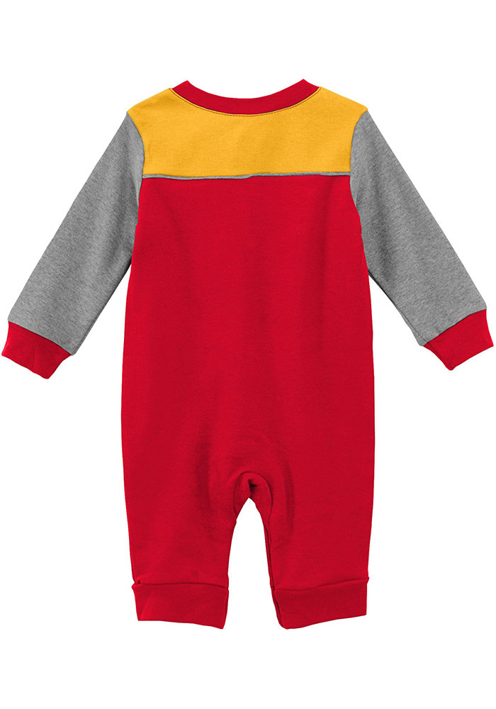 Kansas City Chiefs Baby Red Scrimmage Long Sleeve One Piece - Image 2