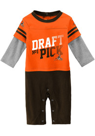 Cleveland Browns Baby Draft Pick One Piece - Brown