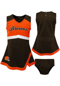 Cleveland Browns Toddler Girls Cheer Captain Cheer - Brown
