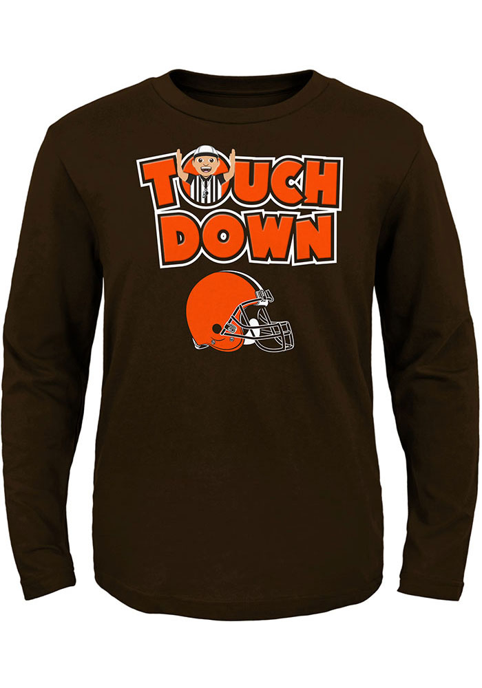 brand new 1a979 588db Cleveland Browns Toddler Brown Touch Down Long Sleeve T-Shirt