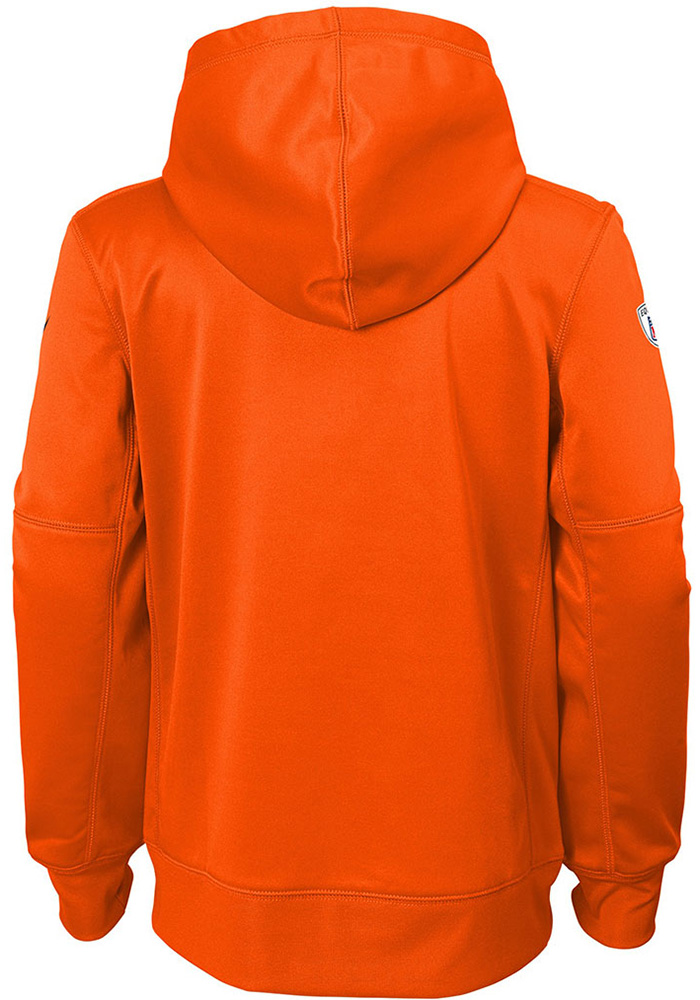 Cleveland Browns Youth Brown Therma Long Sleeve Hoodie - Image 2