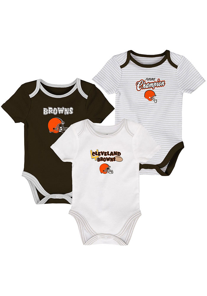 Cleveland Browns Baby Brown 3rd Quarter One Piece - Image 1