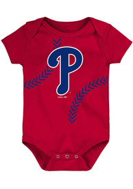 Philadelphia Phillies Baby Running Home One Piece - Red