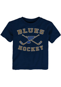 St Louis Blues Toddler Lines Crossed T-Shirt - Blue