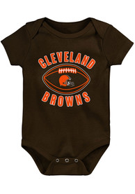 Cleveland Browns Baby Little Kicker One Piece - Brown
