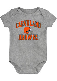 Cleveland Browns Baby #1 Design One Piece - Grey