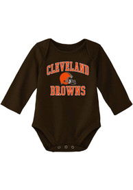Cleveland Browns Baby #1 Design One Piece - Brown