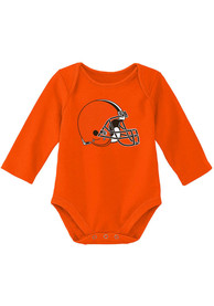 Cleveland Browns Baby Primary Logo One Piece - Orange