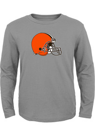 Cleveland Browns Boys Primary Logo T-Shirt - Grey