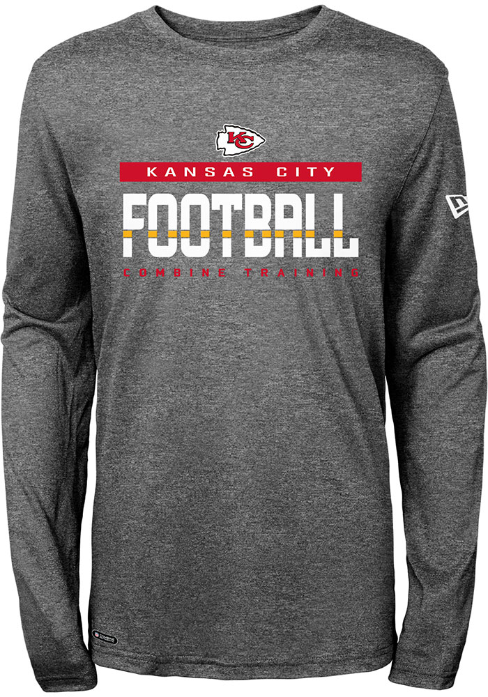 Kansas City Chiefs Charcoal Seeded Long Sleeve T-Shirt - Image 1