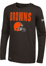 Cleveland Browns 50 Yard Line T-Shirt - Brown