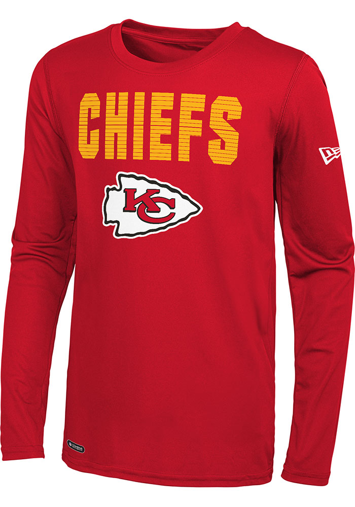 Kansas City Chiefs Red 50 Yard Line Long Sleeve T-Shirt - Image 1