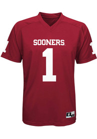 Oklahoma Sooners Youth #1 Jersey Football Jersey - Cardinal