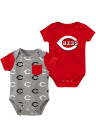 Cincinnati Reds Baby Red Born and Raised One Piece
