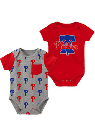 Philadelphia Phillies Baby Born and Raised One Piece - Red