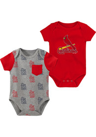 St Louis Cardinals Baby Born and Raised One Piece - Red