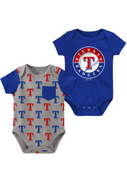 Texas Rangers Baby Born and Raised One Piece - Blue