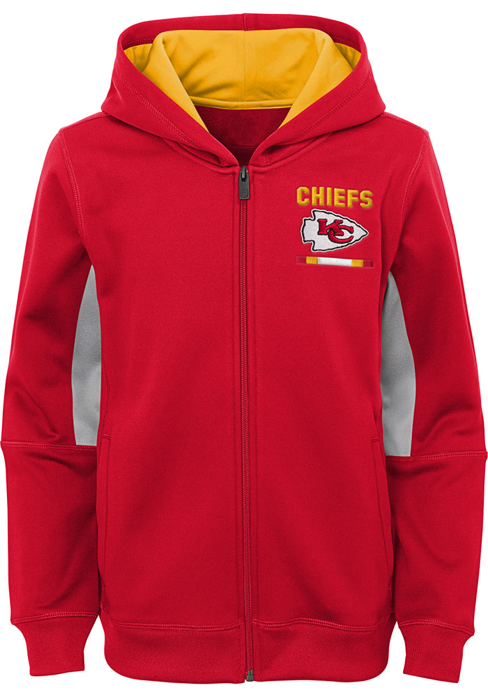 Kansas City Chiefs Youth Red Stay Warm Long Sleeve Full Zip Jacket - Image 1