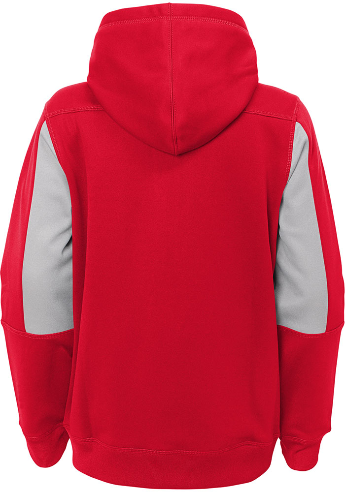 Kansas City Chiefs Youth Red Stay Warm Long Sleeve Full Zip Jacket - Image 2