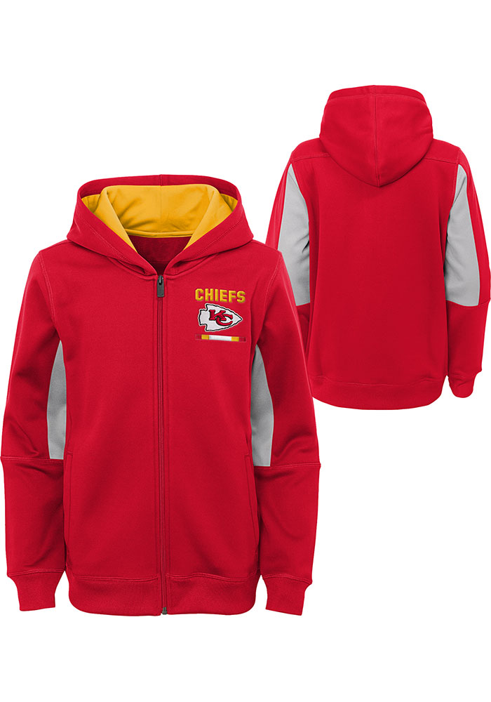 Kansas City Chiefs Youth Red Stay Warm Long Sleeve Full Zip Jacket - Image 3