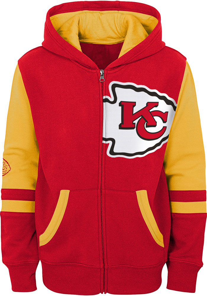 Kansas City Chiefs Youth Red Stadium Long Sleeve Full Zip Jacket - Image 1