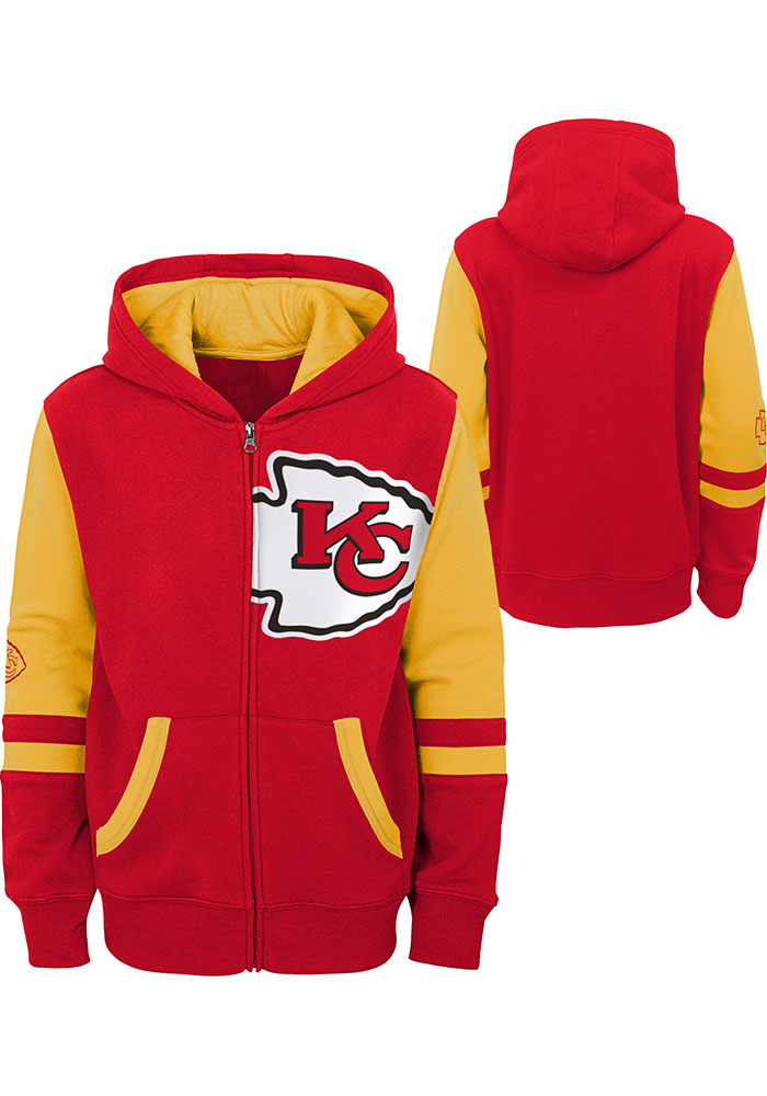 Kansas City Chiefs Youth Red Stadium Long Sleeve Full Zip Jacket - Image 3