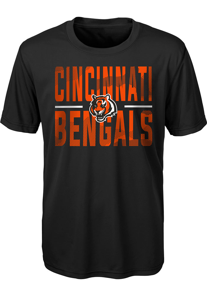 Cincinnati Bengals Youth Black Ground Control Short Sleeve T-Shirt - Image 1