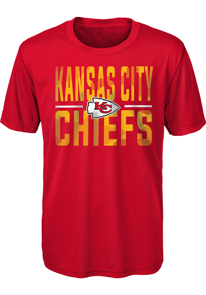 Kansas City Chiefs Youth Red Ground Control Short Sleeve T-Shirt - Image 1