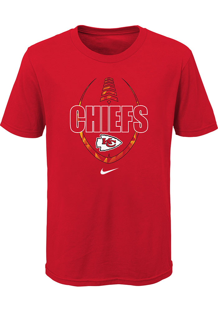 Nike Kansas City Chiefs Youth Red Football Icon Short Sleeve T-Shirt - Image 1