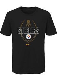 Pittsburgh Steelers Youth Nike Football Icon T-Shirt - Black