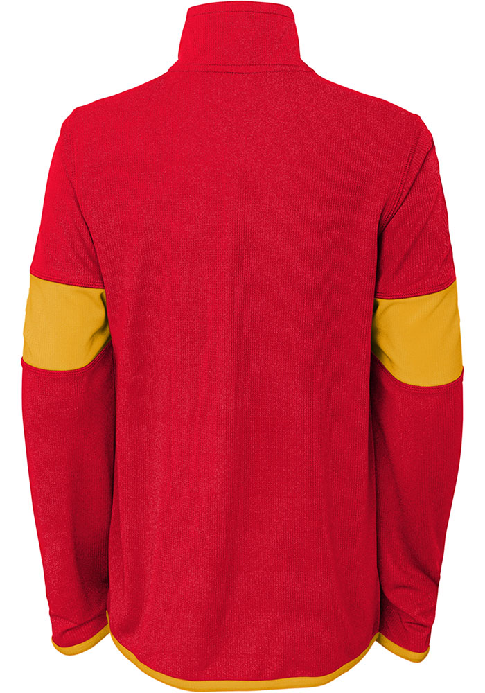 Kansas City Chiefs Boys Red Yard Line Long Sleeve 1/4 Zip Pullover - Image 2