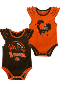 Cleveland Browns Baby All Love One Piece - Brown