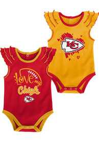 Kansas City Chiefs Baby All Love One Piece - Red