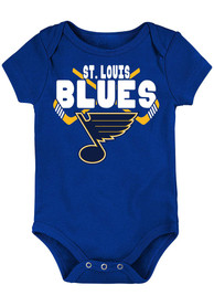 St Louis Blues Baby Crossed in Front One Piece - Blue