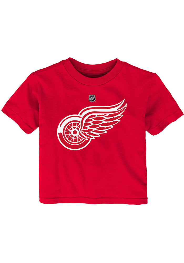 Detroit Red Wings Infant Primary Logo Short Sleeve T-Shirt Red - Image 1