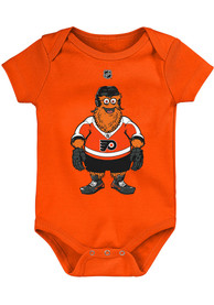 Gritty Philadelphia Flyers Baby Outer Stuff Standing Mascot One Piece - Orange