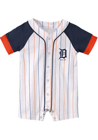Detroit Tigers Baby White Little Slugger One Piece