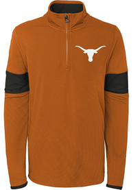 Texas Longhorns Youth Field Quarter Zip - Burnt Orange