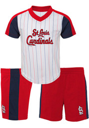 STL Cardinals Toddler Red The Lineup Top and Bottom Set