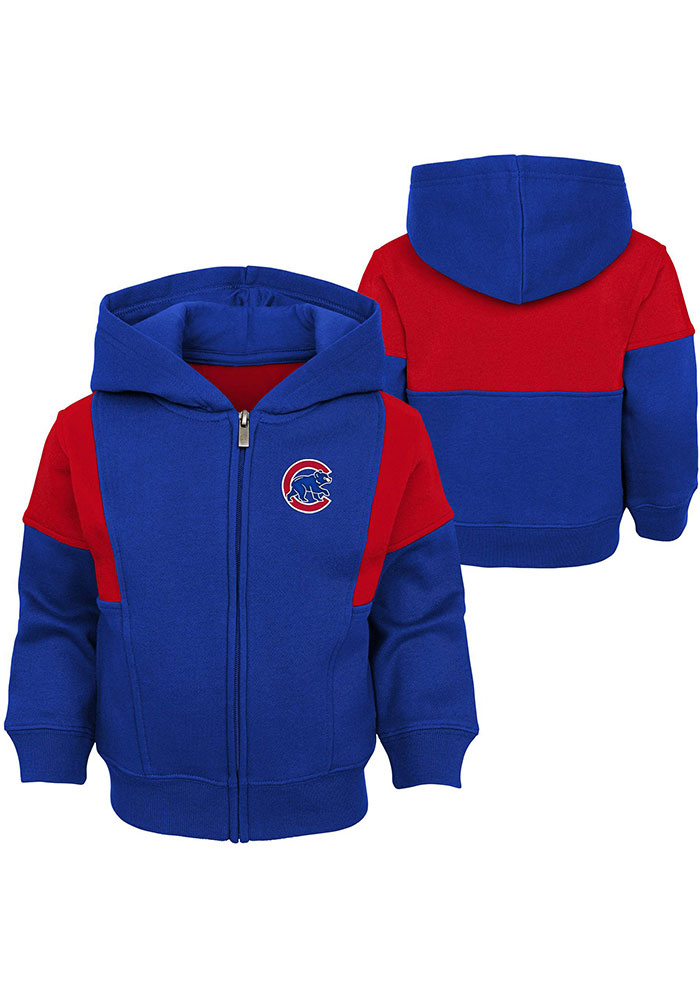 Chicago Cubs Toddler All That Full Zip Sweatshirt - Blue